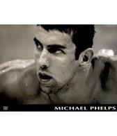 Michael Phelps Black and White Mini Poster