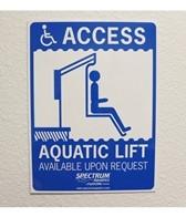 Spectrum ADA Pool Sign