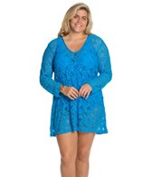 Kenneth Cole Island Fever Plus Size Boat Neck Tunic