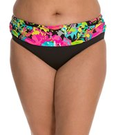 Kenneth Cole In Full Bloom Plus Size Sash Hipster Bottom