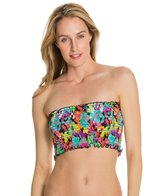 Kenneth Cole In Full Bloom Smocked Midkini Top