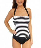 Beach House French Stripe Bandeau Maillot