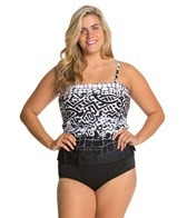 Ceeb Big Island Plus Size Full Skirted One Piece