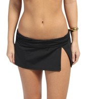 La Blanca Island Goddess Shirred Band Slit Skirted Hipster Bottom