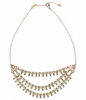 Flea Market Girl 3 Chain Brass Short Necklace