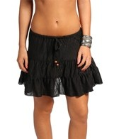 J. Valdi Underwater Jacquard Tiered Skirt