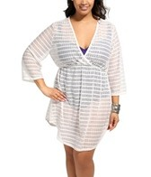 Jordan Taylor Marlin Chevron Plus Size V-Neck Tunic