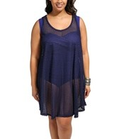Jordan Taylor Fishbone Braid Plus Size Hi-Lo Tank Dress