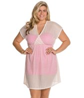 Jordan Taylor Fishbone Braid Plus Size V-Neck Dress