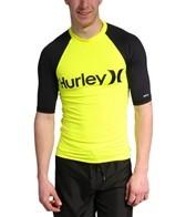 Hurley Men's One & Only Neon S/S Rashguard