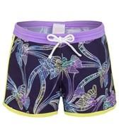 Platypus Girls' Tie Dye Birds Boardshort (8-14)