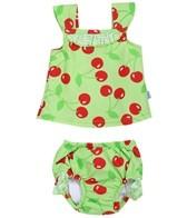 iPlay Girls'  Lime Cherry Swim Diaper Tankini Set (6mos-3yrs)
