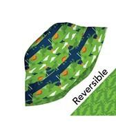 iPlay Boys' Lime Prehistoric Reversible Sun Protection Hat (0mos-4yrs)
