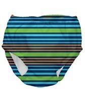 iPlay Boys' Navy Multistripe Snap Swim Diaper (6mos-4yrs)