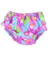 iPlay Girls' Lavender Toucan Ruffle Snap Swim Diaper (0mos-4yrs)