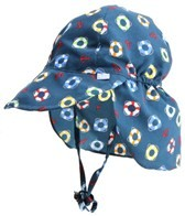 iPlay Boys' Navy Lifesaver Flap Sun Protection Hat (0mos-4yrs)