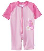 iPlay Girls' Pink Seahorse One-Piece UV Zip Sunsuit (6mos-3yrs)