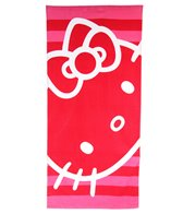 JP Imports Hello Kitty Hot Pink Stripe Towel