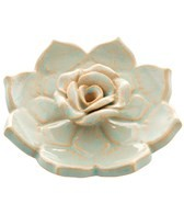 Hand Glazed Lotus Heart Incense Burner