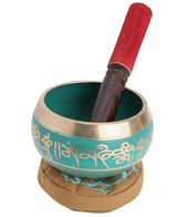 Sacred Space Green Cast Tibetan Singing Bowl 4.5