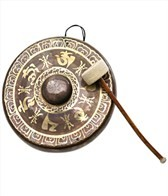 Sacred Space Premium Burnised Himalayan Temple Nipple Gong 13.25