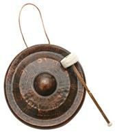 Sacred Space XLarge Burnished Himalayan Temple Nipple Gong 15