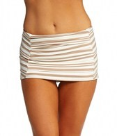 DKNY City Lines Draped Skirted Bottom