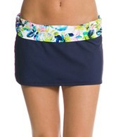 Kenneth Cole Moonlit Roses Sash Swim Skirted Bikini Bottom