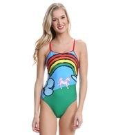 Splish Unicorns and Rainbows Thin Strap One Piece