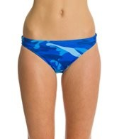 Splish Blue Camo Bikini Swimsuit Bottom