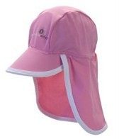 Snapper Rock Baby Girls' Pink/White Flap Hat (Kids)