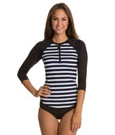 Nautica Women's Broadside Zip Front Surf Shirt