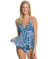 Profile Blush Wild Blue Flyaway Halter Tankini Top