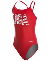 Sporti Solid Thin Strap Swimsuit Youth