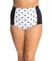 UJENA Plus Size High Waist Polka Dot Bottom