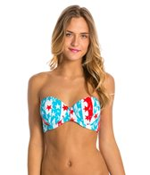 Volcom Red White Boom Underwire Bandeau Top