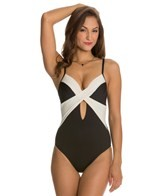Kenneth Cole Tribal Beat Underwire Wrap One Piece