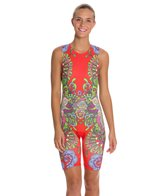 Triflare Women's Red Sari Trisuit