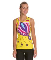 Triflare Women's Yellow Paisly Tri Top