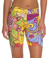 Triflare Women's Yellow Paisly Tri Shorts