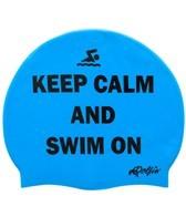 Dolfin Keep Calm and Swim On Silicone Swim Cap