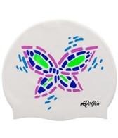 Dolfin Butterfly Silicone Swim Cap