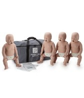 Prestan Professional Infant CPR-AED Training Manikins w/CPR Monitor 4 Pack & Kit