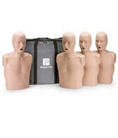 Prestan Professional Adult CPR-AED Training Manikins w/CPR Monitor 4 Pack & Kit