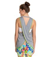 Trina Turk Heather Jersey Cross Back Draped Tank