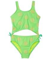 Hula Star Girls' Novelty Dot Monokini (2T-4T)