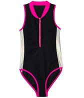 Seafolly Girls Sunset Island Zip Front One Piece (6-16)