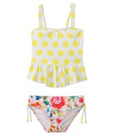 Seafolly Girls Roses Are Pink Singlet Bikini Set (2-7yrs)