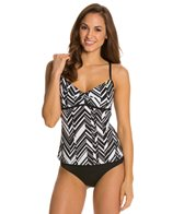 Nike Optic Angles V-Back Tankini Top