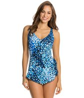 Maxine Feeling Blue Wide Strap Sarong One Piece